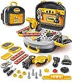 GeyiieTOYS Werkzeugkoffer, Kinder Werkzeug, Spielwerkzeug Set, Werkzeugkasten für Handwerker, Spielzeug Geschenk für Kinder ab 3 Jahre