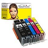 5 YouPrint® Druckerpatronen ersetzen Canon PGI-580/CLI-581 XXL mit Chip OHNE PB - kompatibel für Canon Pixma TS6150, TS6151, TS8150, TS8151, TS8152, TS9150, TS9155, TR7550, TR8550, TS6250, TS6251