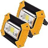 Lamps Arbeitsleuchte LED-Flutlicht 10W LED-Wiederaufladbare Arbeitslichter IP 65 wasserdichte Sicherheitsstrahler für Reise-Camping-Lampe mit USB-Anschluss 4 Beleuchtungsmodus LQHZWYC (Color : B)