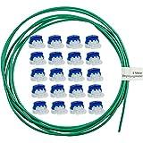 lohag® 20 Kabelverbinder in praktischer Box + 5m Begrenzungskabel inkl. Reparaturset - wasserdichte Verbindungsklemmen mit Gelfüllung - Kompatibel für Bosch, Gardena, Husqvarna, Worx, Yard Force
