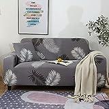 Moderner gestreifter Print Stretch Sofabezug für Wohnzimmer Elastische Möbelschutz Schonbezug A15 1 Sitzer