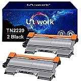 Uniwork Kompatibel Toner als Ersatz für Brother TN2220 TN2010 für MFC-7360N HL-2130 DCP-7055 DCP-7055W HL-2250DN MFC-7460DN FAX-2840 HL-2240 HL-2135W MFC-7860DW HL-2240D HL-2270DW (Schwarz, 2er-Pack)