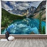 XGguo Wandteppich Wandtuch, Wandbehang Tuch,Baumwolle Wand tucher Wald hängende Stoffkunst Wanddruck