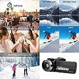 Mavis Laven Kamera Camcorder HD Intelligent 1080P 3,0 Zoll Touchscreen WiFi Digital Zoom Videokamera Camcorder Eingebauter Akku Videokamera(#3)