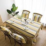 CYYyang Pflegeleichte Tischwäsche - Tafeltuch, Garngefärbtes wasserdicht gestreiftes Leinenplaid