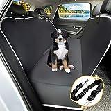 Toozey Hundedecke Auto Rückbank mit Seitenschutz, wasserdichte Kratzfest Autoschondecke Hund Rücksitz mit Anschnallgurt für Auto/Kombis/Van/SUV, 147x137