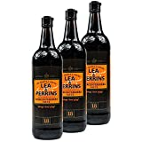 Lea & Perrins - 3er Pack Original Worcestershire Sauce in 568 ml Glasflasche (Würzsauce) - Traditionell englische Worcester Worcestersauce