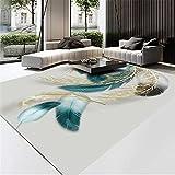 Kunsen Schönes Federmuster Moderne Minimalismus Dirty Niedriger Geräusch Anti-Rutsch Room Teppich Schlafzimmer Teppich-Guthaben Teppich küche wohnzimmerteppich 1ft 4''X1ft 12'' kinderteppic40X60CM