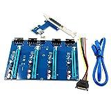 PCI Express pcie 1 à 4 PCI Express 16x Slot Riser PCI - e 1x à l'adaptateur Externe à 4 Slots pcie Port multiplicateur Pour l'exploitation minière