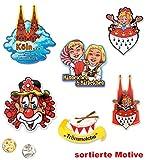 KarnevalsTeufel 1 Anstecker I Love Köln Kölnbutton Verschiedene Motiven zur Auswahl Accessoire (Köln... einfach himmlisch)