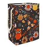Spielzeug Aufbewahrungskörbe Eulenblume Schmutzige Kleidung Wäschekorb Wasserdicht Faltbar 49x30x40.5 cm