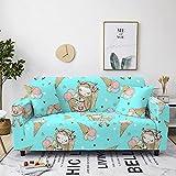 High Stretch Sofabezug Antirutsch Couchbezug,Kleines Mädchen,Blau Bequemes Polyester-Spandex-Material 1 Seater:90-140cm Schützt Ihr Sofa Vor Kratzern Durch Haustiere