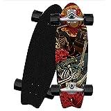 ZBYL Carving Holz Deck Skateboard Komplett 8 lagigem Ahornholz Skateboards CX4 Cruiser Longboard für Anfänger Mädchen Jungen Pumping Surfskate Boards mit ABEC-9 Kugellager und 78A Stoßfest PU Räde