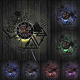 Benutzerdefinierte DJ Name Hier Kunst Dekoration Wandmusikuhr Vinyl LP Registry Wanduhr Rock N Roll DJ Liebhaber Geschenke-Mit LED.