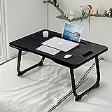 Mnkyer Laptop Tisch Faltbarer Schoß Schreibtischständer mit Schublade, Laptop Tisch für Bett Notebook Schreibtisch Tragbares Notebook Bettablage Multifunktions-Schoßtablett