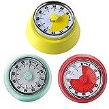 Visueller Countdown-Timer-60-minütiger visueller analoger Timer-Countdown-Timer für Kinder und Erwachsene-Compact Zeitdauer-Uhr mit Magnet und Ampelscheibe
