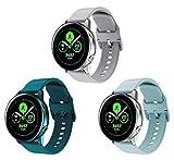 kytuwy Armband Kompatible mit Galaxy Watch 3 41mm - Weiche Silikon Uhrenarmband für Galaxy Watch Active 40mm/Active 2 44 mm/Galaxy Watch 3 41mm/Gear S2 Classic/Gear Sport(3packB)