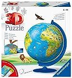 Ravensburger 3D Puzzle 11160 - Kinderglobus in deutscher Sprache - 180 Teile