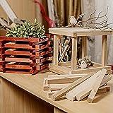 Holz zum Basteln - Holzblock aus unbehandeltem FSC-Birkenholz für DIY, Handwerk, Dekoration, Malen - Leisten für Holzdeko, Wandpaneele oder Holz-Wandverkleidung - Holzbretter zum Bauen