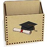 Azeeda 'Abschlusshut & Schriftrolle' Hölzern Brief Halter / Box (LH00040451)