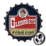 Walking Dead Glenns Eye Flaschenöffner, rückseitiger Magnet-Kühlschrank-Aufkleber, kreative Flaschenverschluss-Form, einfaches Öffnen der Flaschenarbeit.