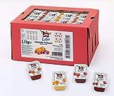 Schwartau Sortimentskartion Konfitüre Portionsschalen (Erdbeere, Himbeere, Aprikose, Sauerkirsche), 100er Pack (25 x 25g je Sorte)