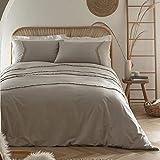 Appletree Loft – Tabitha – Bettwäsche-Set mit Chevron-Quaste, entspannte Baumwolle, King-Size-Größe in Silber