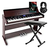 FunKey DP-88 II Digitalpiano Set (88 anschlagsdynamische Tasten, 360 Sounds, 160 Styles, MP3-Player, inkl. Keyboardbank, Kopfhörer und Klavierschule) b