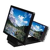 GYW-YW Lupe, Art und Weise 3D Phone Screen Amplifier bewegliche Universal Displaylupe for Handy-Schirm-Expander Vergrößerungs (Color : Black)