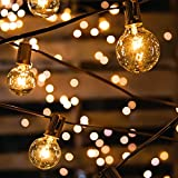 Lichterkette Glühbirnen IP65 Wasserfest, Avoalre G40 warmweiss 30 Glühbirnen Lichterkette außen, 10M Innen-/Aussenbeleuchtung (max. 50 M) Ausdehnbar Outdoor Lichterk