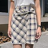 Damen Rock Casual Korean Plaid Frauen Hohe Taille A-Linie Rock Sommer Süße Kawaii Weibliche Miniröcke Weibliche L Royalblue