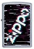 ZIPPO – Sturmfeuerzeug, Zippo Logo, Color Image, Street Chrome, nachfüllbar, in hochwertiger Geschenkbox