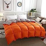 Cactuso Sommerbettdecke 220x240,Runter Ist EIN Weicher Sommer Vier Jahreszeiten-150x200cm 2000g_orange Grau