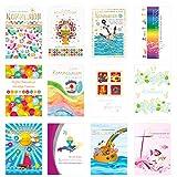 24 Stück Kommunionskarten Klappkarten mit Umschlag - Glückwunschkarte zur Kommunion