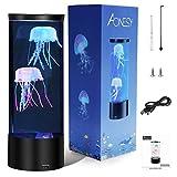 Quallen Lampe AONESY Lavalampe Lampe Quallen Stimmungslampe Farbe ändernde Quallen Aquarium Geschenk für Kinder Männer Frauen Home Deco