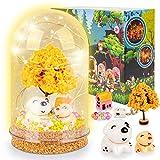 Geschenke für Mädchen 5 6 7 8 Jahre Bastelset Spielzeug ab 4-9 Jahre Kinder, Basteln Kind Lampe Bastelset Weihnachten Bastelkoffer ab 6-12 Jahre Mädchen Bastelsachen Nachtlicht Feengarten Kinder