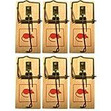 conkor Klassische Holz-Mausefalle - Mausefalle Schlagfalle, mit Spannvorrichtung - Mäuse vertreiben, Mausfallen für drinnen - Hohe Schlagkraft, einfache Handhabung - 9,8 x 4,6 cm (6 Mausefallen)