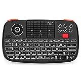 Rii Bluetooth Tastatur mit touchpad(Bluetooth 4.0 + 2.4G Wireless), Mini Tastatur with Scrollrad und LED Hinterleuchtet(Deutsches Layout, schwarz)