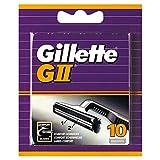 Gillette GII Rasierklingen mit doppelten Klingen für mehr Komfort, 10 Ersatzklingen