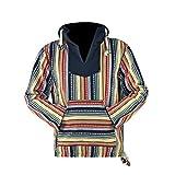 virblatt - Vintage Pullover | 100% Baumwolle | Baja Hoodie Hippie Jacke Vintage Hoodie Vintage Kleidung Herren - Utrecht XL gelb