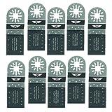 10 x 35mm TopsTools UN35B_10 Metallschneide-Klingen Kompatibel mit Bosch Fein (nicht StarLock) Makita Milwaukee Einhell Ergotools Hitachi Parkside Ryobi Worx Workzone Multifunktionswerkzeug-Zubehör