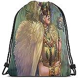 Arvolas Turnhalle Kordelzug Taschen Karneval Engel Frauen Maske String Pull Rucksack Leichte Sacktasche