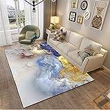 MMHJS Einrichtungsgegenstände Einfach Und Stilvoll Luxuriös Großer Rechteckiger Teppich Weich Und Hautfreundlich 120x160