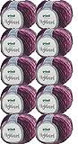 500g Wollpaket Gründl Highland, Wolle Paket 10 x 50g Farbe 06, Schnellstrickwolle mit Farbverlauf, zum Stricken oder Häkeln