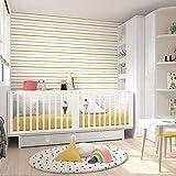 Babybett für Zwillinge, 86,7 x 203,8 x 100 cm, Weiß/G