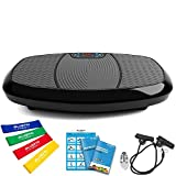 Bluefin Fitness Dual-Motor 3D Vibrationsplatte   Extra Große Anti-Rutsch-Oberfläche   Bluetooth Lautsprecher   Fett Abbauen und Body Shaping von Hause   UK Design