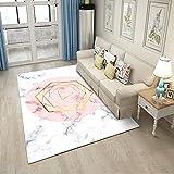 Hochflor Teppich wohnzimmerteppich - Teppiche für Wohnzimmer flauschig Shaggy Schlafzimmer Bettvorleger -blass rosa grau_200 cm × 300 cm.