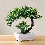 Künstliche Pflanzen Topf Bonsai dekorative grüne kleine Bäume gefälschte Blumen Party Office Tisch Ornament für Hausgarten Dekoration - TypA4, a1