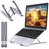 """Babacom Laptop Ständer, Multi-Winkel Einstellbar Laptop Stand, Belüftete Tragbare rutschfeste Laptop Halterung Kompatibel mit MacBook Air, Pro, Dell, 10-15,6"""" Laptop Tablet, Plastik & Silikon"""