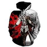 Assassin's Creed Herren Slim Fit Kapuzenpullover 3D Druck Hoodie Winter Bunt-A_M
